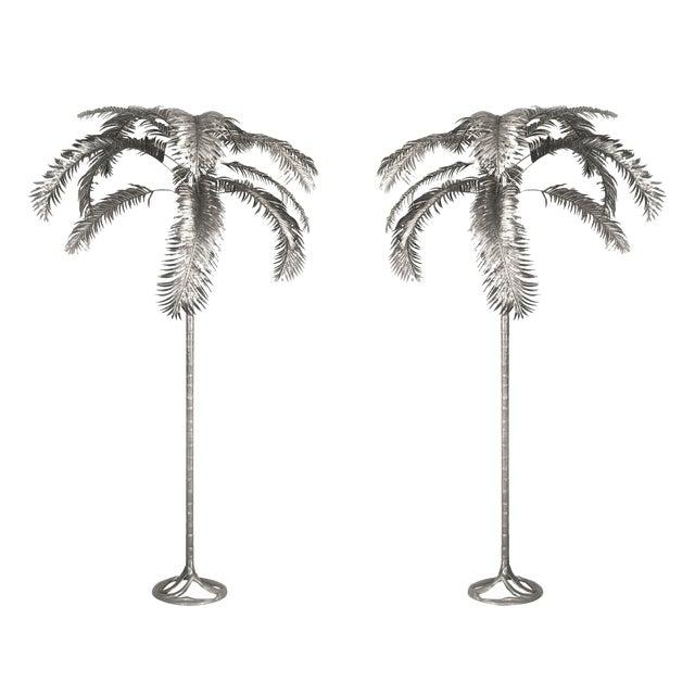 Aluminum Palm Trees by Arthur Court - a Pair For Sale