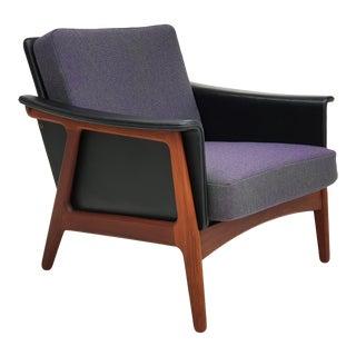 Danish Sofa, Reupholstered, Kvadrat Wool, Teak Wood, 70s For Sale