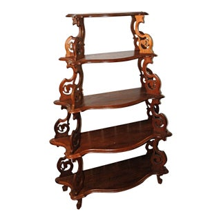 Victorian Walnut Etagere Stand For Sale