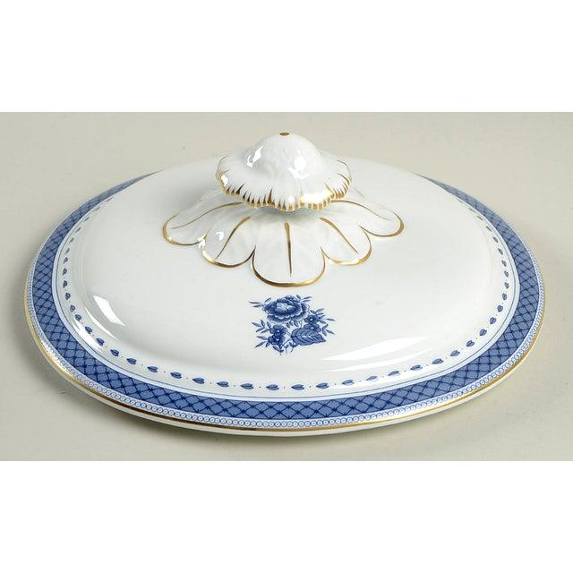 Blue Mottahedeh Indigo Covered Serving Bowl For Sale - Image 8 of 11