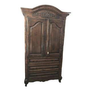 1990s French Country Guy Chaddock Media Armoire For Sale
