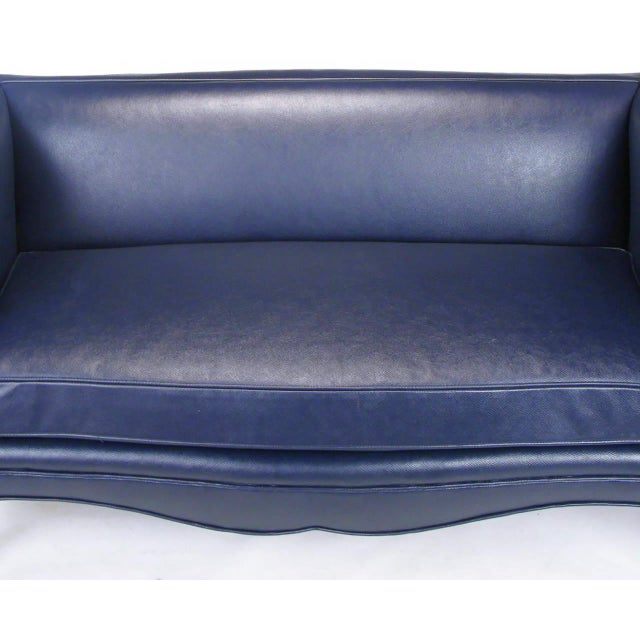 Animal Skin Pair of Richard Himmel Lutece Settees in Blue Edelman Reptile Patterned Calfskin For Sale - Image 7 of 10