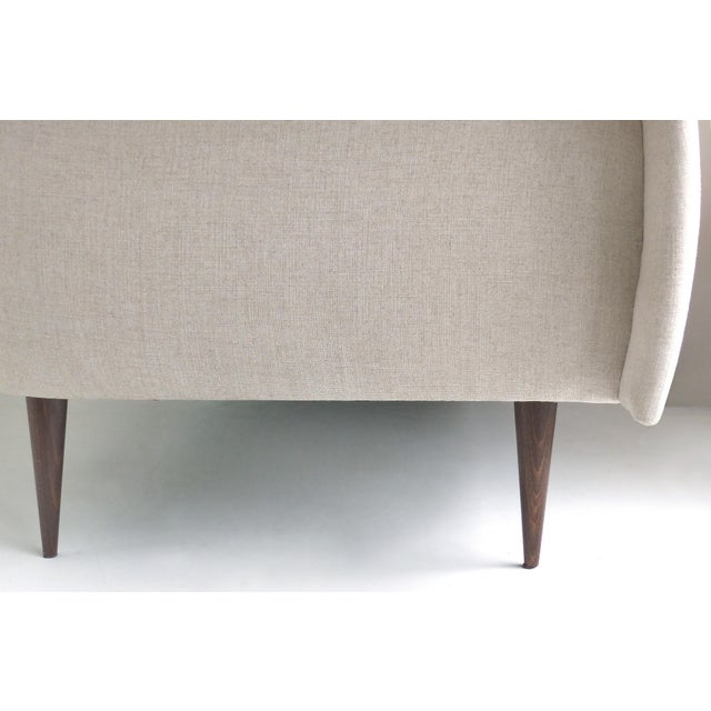 2010s Brazilian Mid-Century Modern Sofa Designed by Joaquim Tenreiro, Re-Edition For Sale - Image 5 of 6