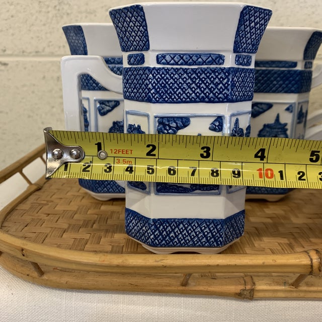 Blue & White Chinoiserie Coffee Mugs - a Set 10 For Sale - Image 11 of 13
