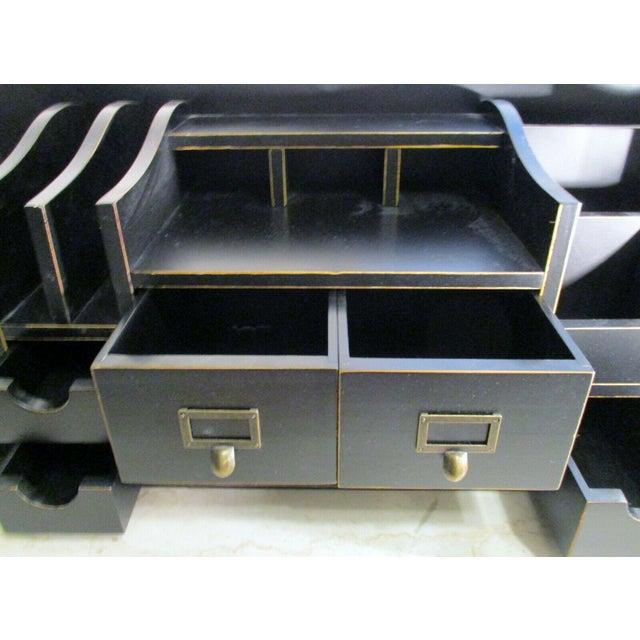Black Ballard Designs Home Office Desk Organizer For Sale - Image 8 of 11