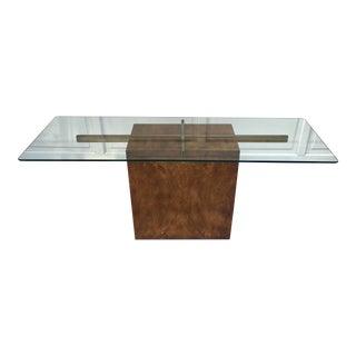 Vintage Lane Burl Wood Console Table For Sale