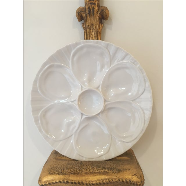 Porcelain Oyster Plates on Gold Brackets - A Pair - Image 5 of 5