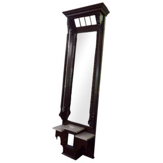 19th Century Antique Foyer Mirror