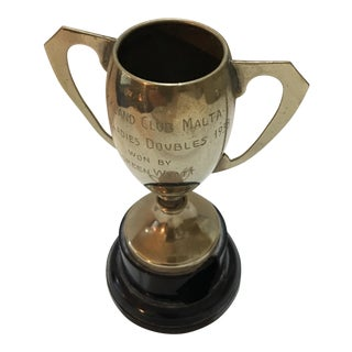 1938 Auckland Tennis Club in Malta Trophy For Sale