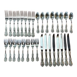 1950s Reed & Barton Francis I Sterling Flatware - Set of 32 For Sale