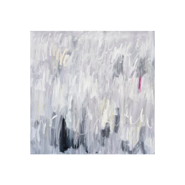 """This work by Linc Thelen, """"Tinder"""", is a full blown expression of paint's power to become a tactile experience...."""