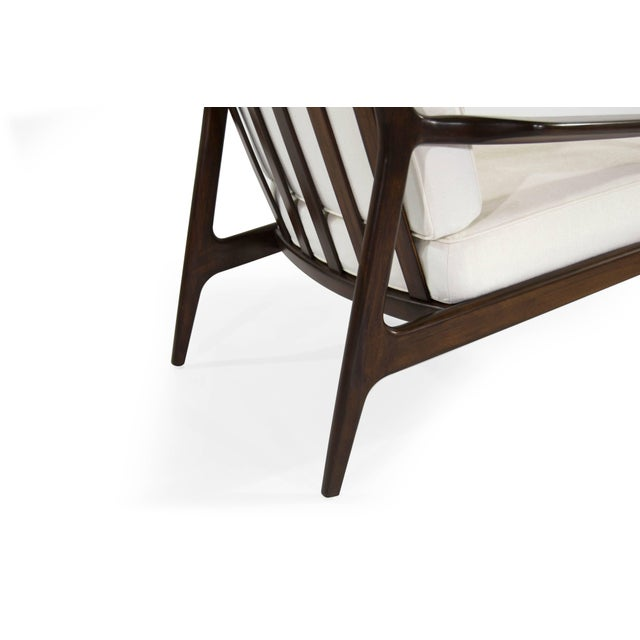 White Milo Baughman for Thayer Coggin Walnut Archie Lounge Chairs For Sale - Image 8 of 11