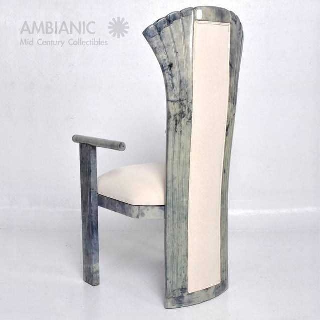 1960s Set of 10 Goatskin Parchment Dining Chairs For Sale - Image 5 of 8