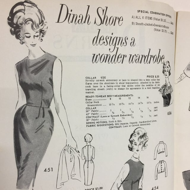 "Spadea ""Dinah Shore's Wonder Wardrobe"" Vintage Dress Pattern For Sale - Image 5 of 9"