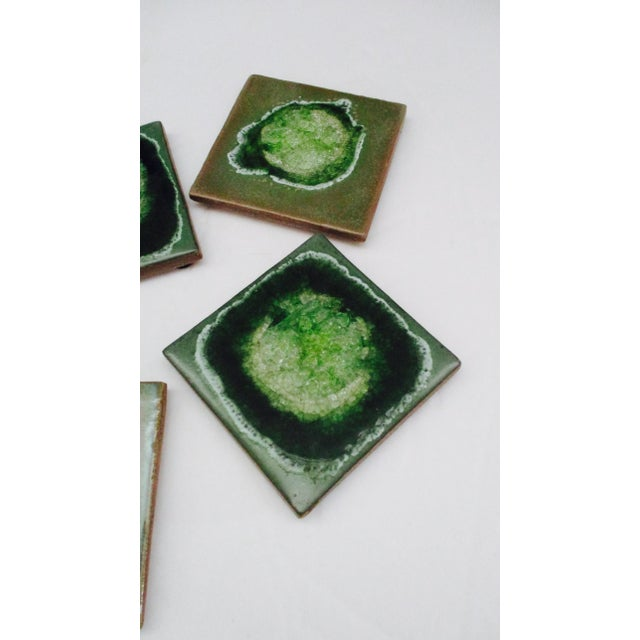 Geode Crackle Glass Coasters - Set of 4 For Sale - Image 4 of 10