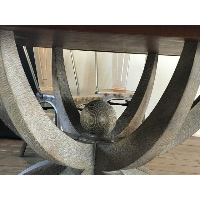 Global Views Klismos White Oak Round Table - Image 3 of 11