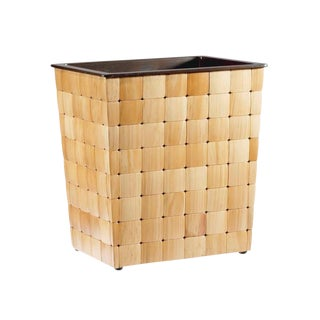 Selamat Designs Pine Wastebasket