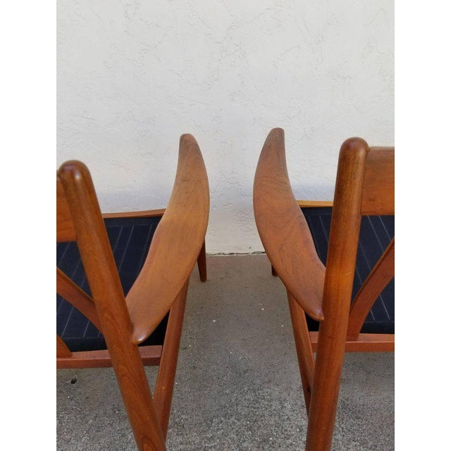 1960s Grete Jalk for France & Daverkosen Teak Lounge Chairs - A Pair For Sale - Image 5 of 13