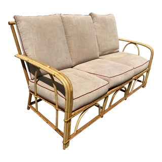 """""""1949-er"""" Vintage Rattan 3-Strand Lounge Chair by Heywood Wakefield For Sale"""