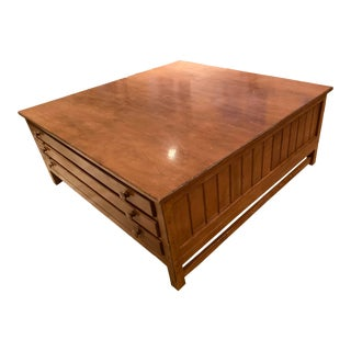 Vintage Traditional Map Coffee Table by Troy Wesnidge Inc For Sale