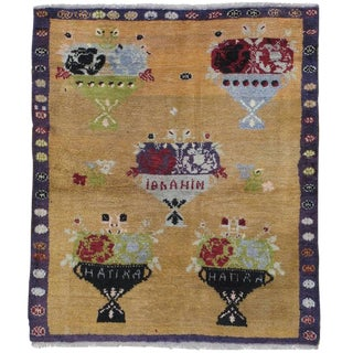 """Five Bouquet"" Tulu Rug For Sale"