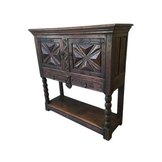 1628 Antique French Carved Sideboard Server For Sale