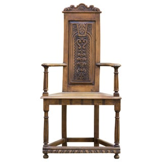 Flemish Baroque Hall Chair For Sale