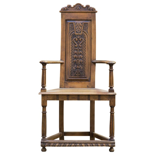 Flemish Baroque Hall Chair - Image 1 of 7
