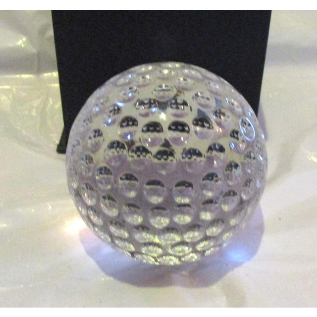 Oleg Cassini Crystal Art Glass Paper Weight Chairish