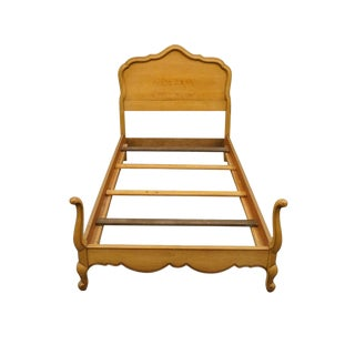 20th Century French Provincial Drexel Touraine Twin Size Bedframe For Sale