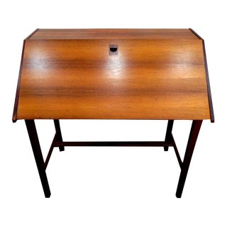 Danish Teak Secretary Desk For Sale