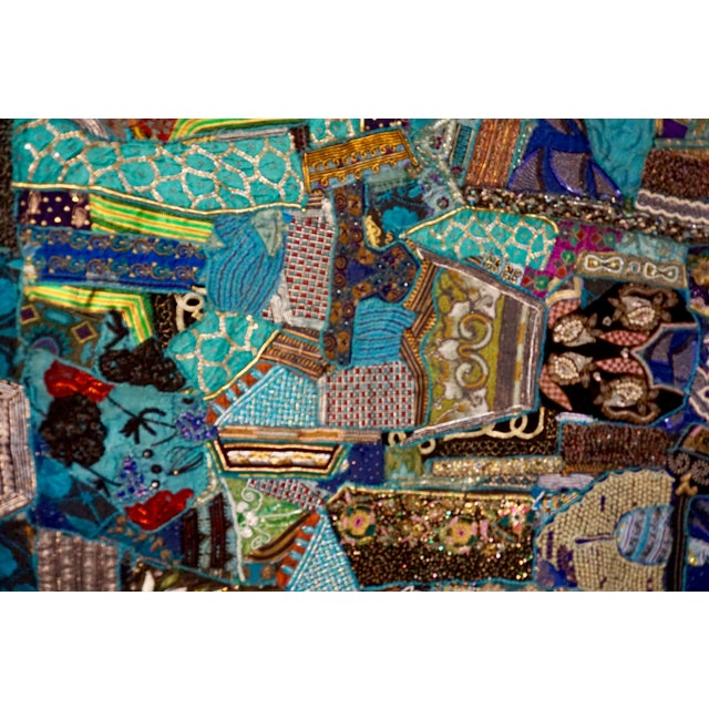 Abstract 1960's Boho Patchwork Tapestry For Sale - Image 3 of 8