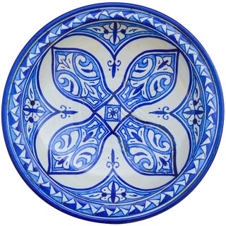 Antique Ceramic Wall Plate With Arabesque For Sale