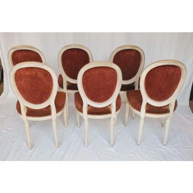 Textile Set of 6 French Chairs For Sale - Image 7 of 13