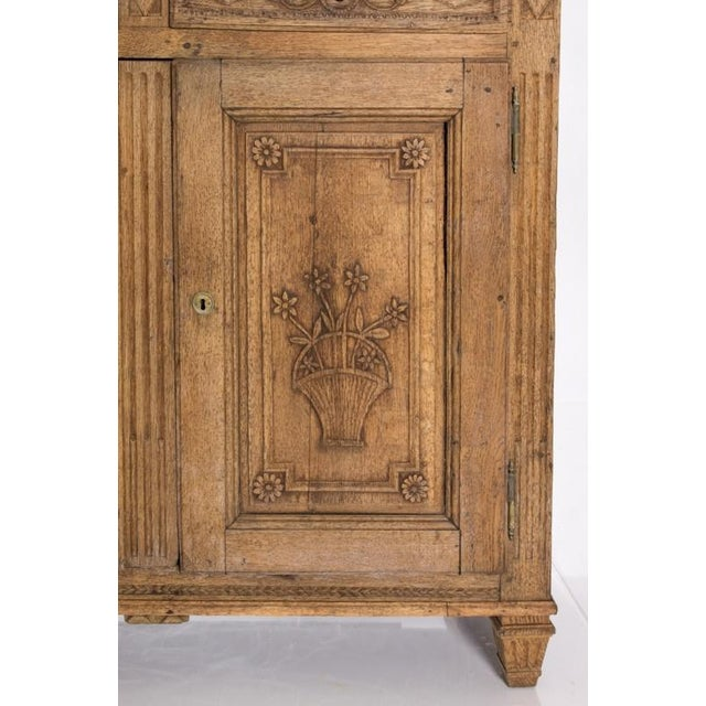 19TH CENTURY BLEACHED OAK BUFFET For Sale In New York - Image 6 of 10