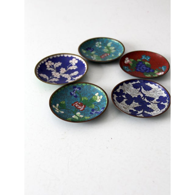 Antique Chinese Cloisonne Plates - Set of 5 - Image 6 of 8