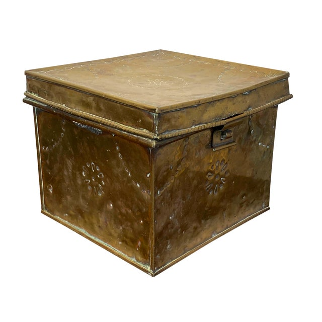 19th Century Antique Brass Slipper Warming Box For Sale - Image 5 of 8