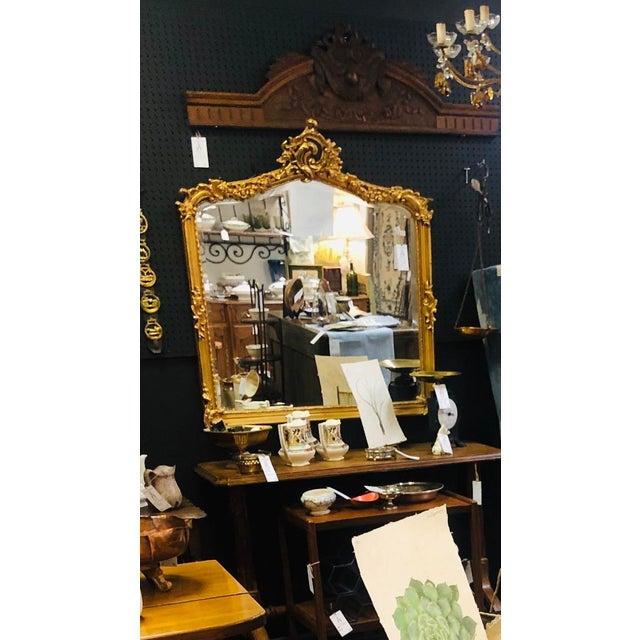Antique Gold Gilt Wood Frame Beveled Mirror For Sale - Image 12 of 12
