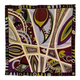Image of Pucci Classic Psychedelic Silk Scarf For Sale