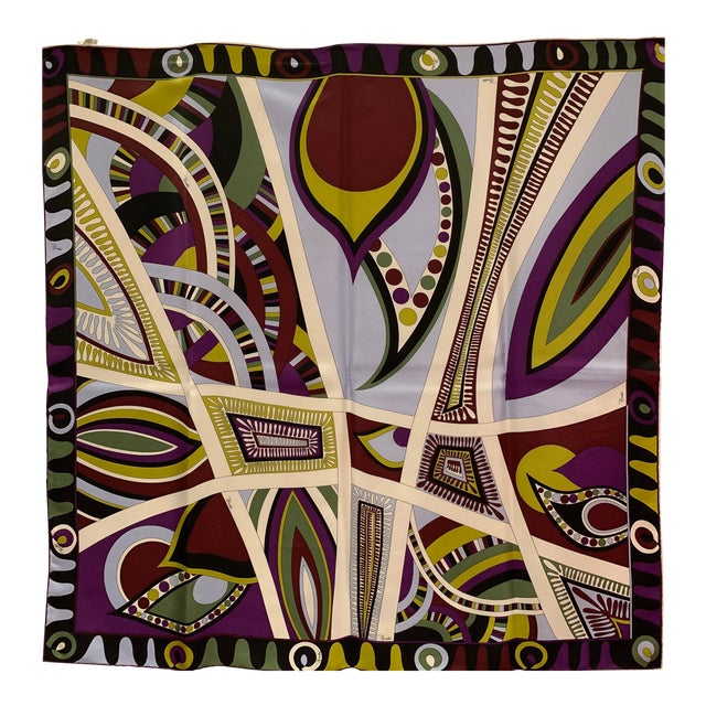 Pucci Classic Psychedelic Silk Scarf For Sale