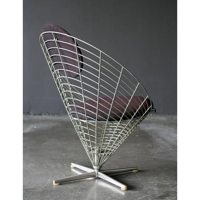 Gray Wire Cone Lounge Chair by Verner Panton for Plus Ligne For Sale - Image 8 of 8