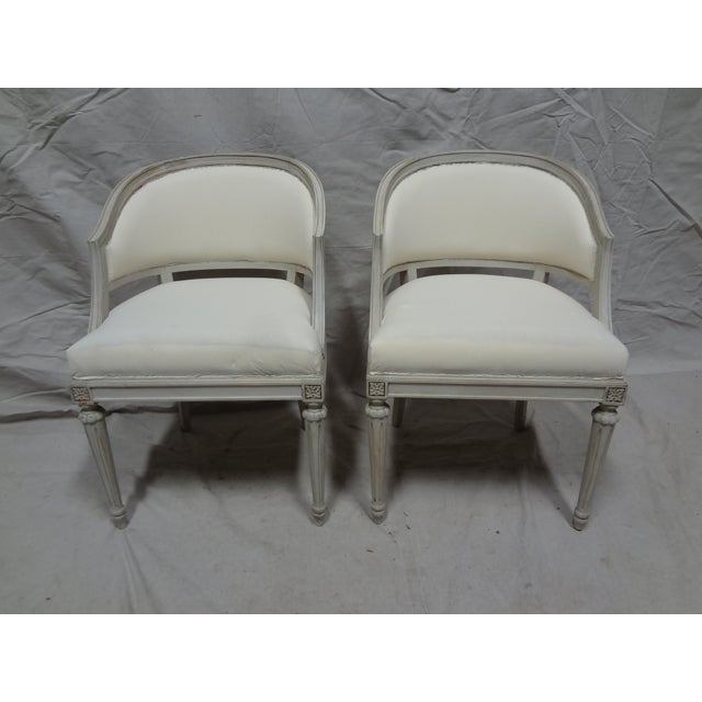 Swedish Gustavian Barrel Chairs - A Pair - Image 2 of 4