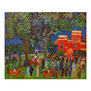 """1940s Raoul Dufy """"Paddock"""" First Edition Period Swiss Lithograph For Sale"""