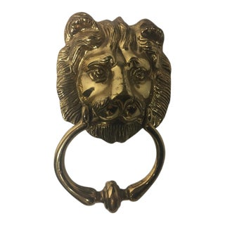Brass Lionhead Door Knocker