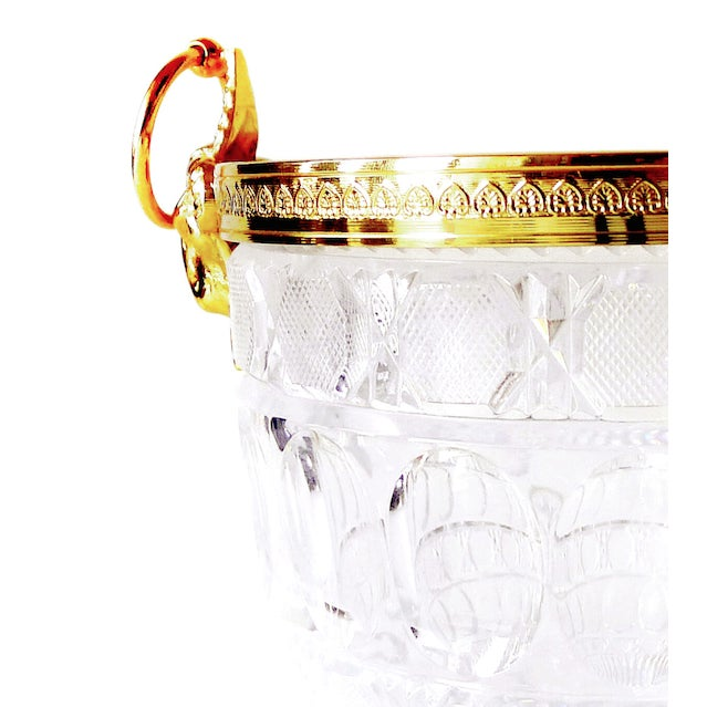Gold-Plated Crystal Wine Holder - Image 2 of 2