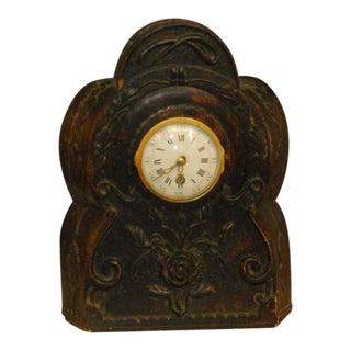 19th Century Carved Clock
