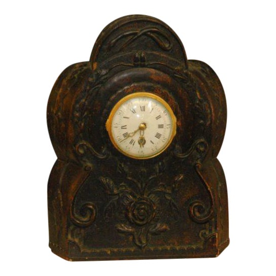 19th Century Carved Clock For Sale