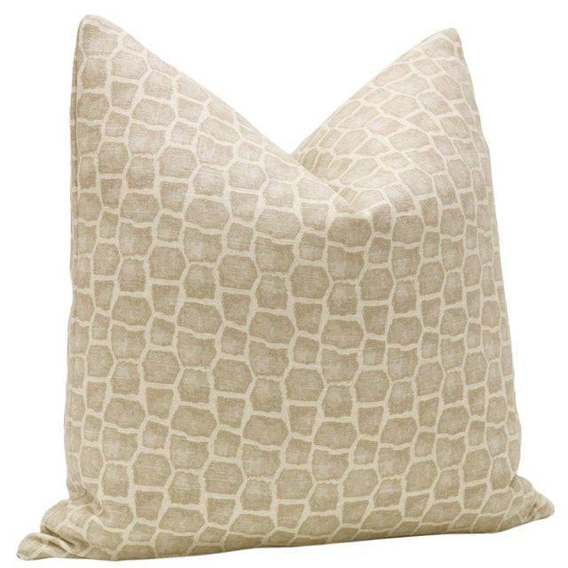 """Contemporary 22"""" Safari Print Pillows - a Pair For Sale - Image 3 of 4"""