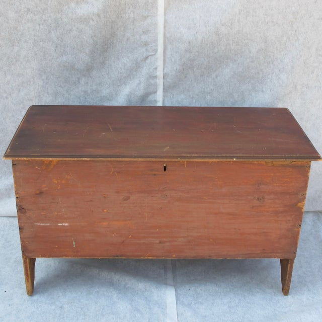 Original Red Painted Blanket Chest For Sale - Image 11 of 11