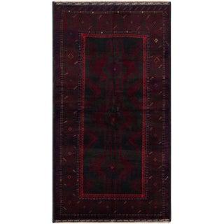 Vintage Mid-Century Afghan Rug - 3′5″ × 6′10″ For Sale
